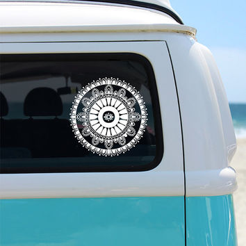 Car Seat Covers BW Mandalas Made Of From LantanaCarWear On - Rear window hunting decals for trucksdeers in a forrest bw window graphic tint decal sticker truck