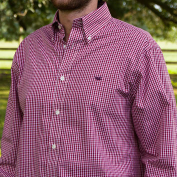 The Hookbill Gingham from Southern Marsh - Wrinkle Free - Collegiate - Mississippi State