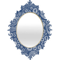 Julia Da Rocha Bluflower Baroque Mirror
