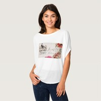 Vintage four wheeled velocipede Women's Circle Top