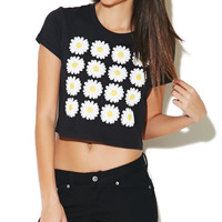 Daisy Crop Tee | Wet Seal
