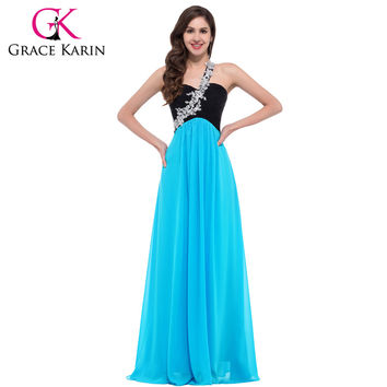 New Fashion! 1pc/lot One shoulder Chiffon Long Beautiful Prom Party Dance Dresses CL4447