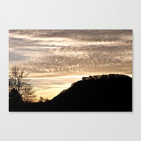 Sunset Silhouette Mt. Sugarloaf fine art photography Western Mass gold orange pink birds geese wall decor home accent modern gifts under 50