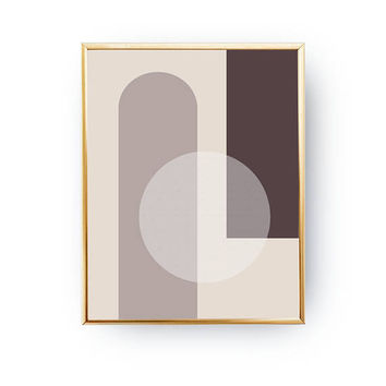 Brown Pastel Print, Minimalist Poster, Textured Wall Art, Geometric Textures, Pastel Decor, Geometric Shapes, Nordic Style, Circle Poster