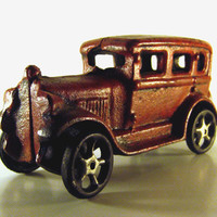 Cast Iron Red Toy Car, Reproduction 1980s
