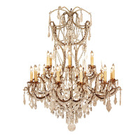Italian Early 19th Century Louis XV Style Rock Crystal Chandelier