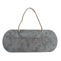 Galvanized Welcome Garden Sign