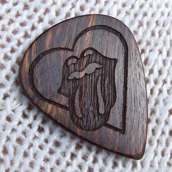 Tribute to The Rolling Stones Custom Exotic Wood Guitar Pick
