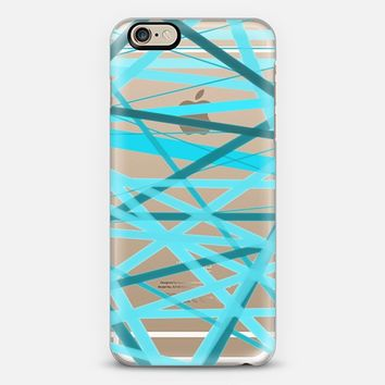 Ocean Jumble Lines - Transparent/Clear Background iPhone 6 case by Lisa Argyropoulos | Casetify