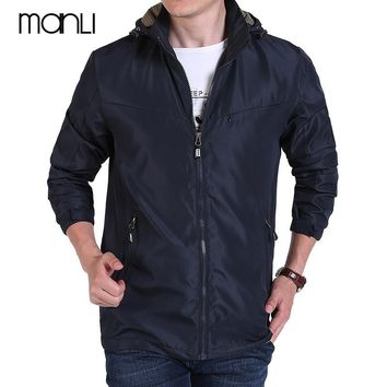 MANLI Men Summer Softshell Hiking Jackets Men Hooded Jacket Male Quick Dry Hiking Jackets Windproof Outdoor Sport Coats