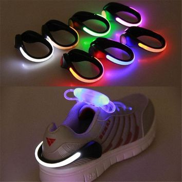 CREYYN6 New Arrival 1 PC LED Luminous Shoe Clip Light Night Safety Warning LED Bright Flash Light for Shoes Protector Drop Shipping
