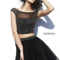 Sherri Hill Short Homecoming Dress 32053 at Peaches Boutique