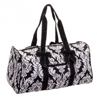Damask Quilted Duffel Bag