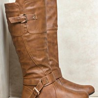 Twisted Buckle Wide Boots
