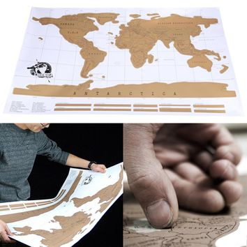 1pcs Travel Scratch Off Map Personalized World Map Poster Traveler Vacation Log National Geographic Map Of The World 88 x 52cm