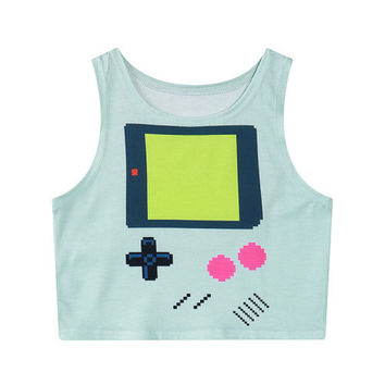 Game Boy Crop Top