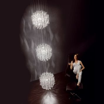 Murano glass chandelier AURA Axo Light Line by AXO LIGHT | design Manuel Vivian
