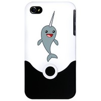 Happy Narwhal iPhone Case by happynarwhal