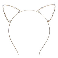 Gold Pearl Cat Ears