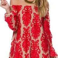 FOR LOVE & LEMONS PRECIOSO EMBROIDERED LACE DRESS