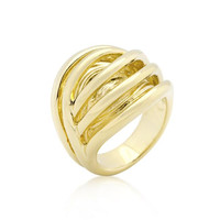 Golden Illusion Fashion Ring, size : 09