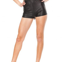 High Waisted Shiny Liquid Shorts