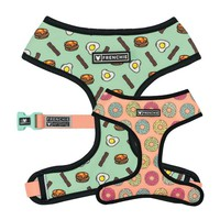 Frenchie Duo Reversible Harness - Breakfast Club