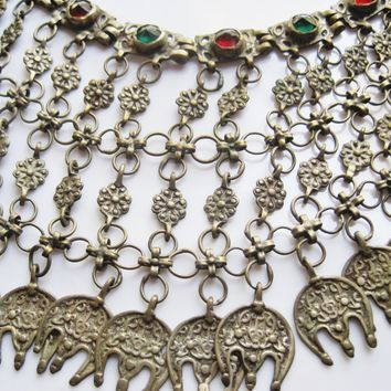 Antique Balkan Bib Choker Necklace from the Ottoman era