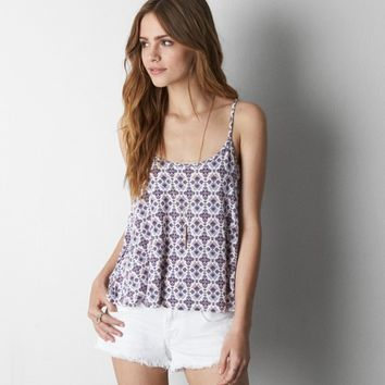 AEO PATTERNED SOFT & SEXY SWING CAMI