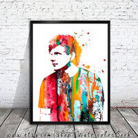 Ed Sheeran Watercolour Painting Print, watercolor painting, watercolor art, Illustration, Ed Sheeran poster, Celebrity Portraits, art print