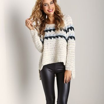 Free People Fuzzy Fairisle Snowflake Sweater F852X386 at Largo Drive Underwear & Swimwear