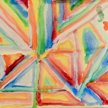 Geometric Abstract Watercolor Painting