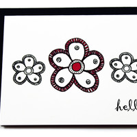 Hello Flower Stationery Cards - Everyday Card - Just Because
