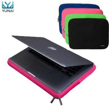 Portable Laptop Zipper Soft Case Bag Cover Sleeve Pouch For Apple 11''/13'' Macbooks Pro/Air New Notebook 4Color Cover Case bag