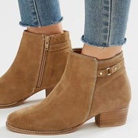 Oasis | Oasis Sally Strap Short Boot Suede at ASOS