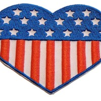 Fuzzy Dude America Heart Patch Accessories Patches at Broken Cherry
