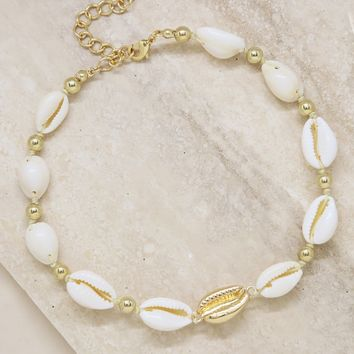 Out to Sea Cowrie Shell Necklace