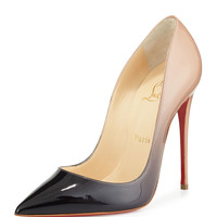 So Kate Degrade Red Sole Pump, Black/Nude - Christian Louboutin