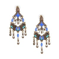 Blue Vintage Drop Earrings