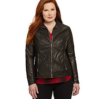 Kenneth Cole Reaction Plus Faux-Leather Jacket