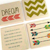 Custom Ceramic Coaster set (4)