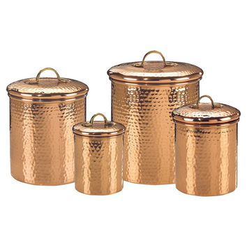 4-Piece Copper Canister Set