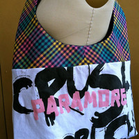 Paramore Crush Crush Crush Hobo Bag Upcycled by TheCollectiveChaos