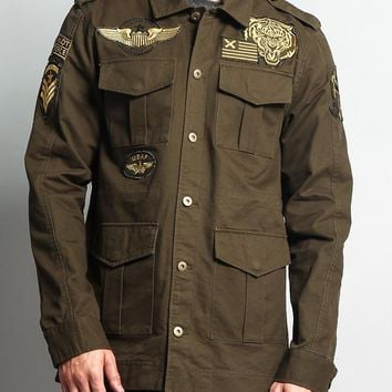 Patched Army Jacket JK758 - DD1D