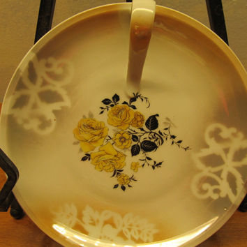 vintage small serving plate with handle # 27 Bremont Bavaria
