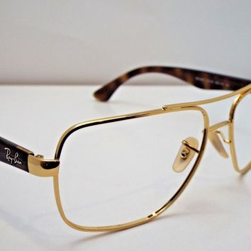 Authentic Ray-Ban RB 3483 001/51 Gold Tortoise Sunglasses Frame $210