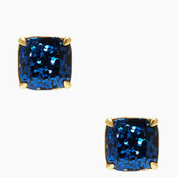 Kate Spade Kate Spade Earrings Small Square Studs Navy Glitter ONE