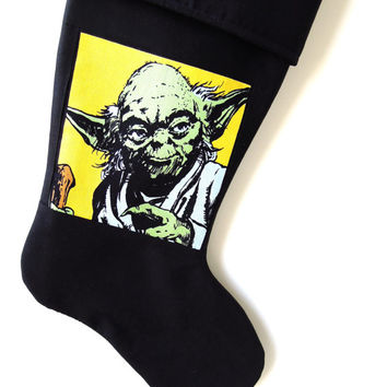 Yoda Christmas Stocking, Star Wars Christmas Stocking, Grand Jedi Master, Christmas Stocking