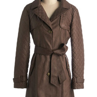 ModCloth Long Long Sleeve Trendsetting Traveler Coat