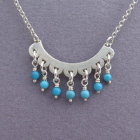 Sterling Silver and Turquoise Necklace Pendant - Turquoise Jewelry